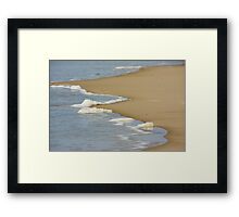 Wave Receding - Hammocks Beach State Park Framed Print