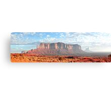 Panorama of Monument Valley Butte Canvas Print