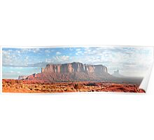 Panorama of Monument Valley Butte Poster