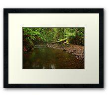 .... a creek near Garths Framed Print