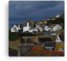 Roof Tops, Port Isaac Canvas Print