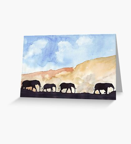 Silhouettes of Africa Greeting Card