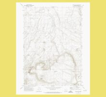USGS Topo Map Oregon Fish Fin Rim 279868 1971 24000 One Piece - Short Sleeve