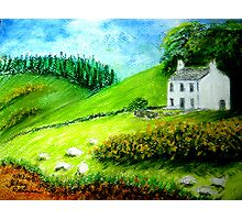 Farmhouse in Scotland or Northern Ireland Photographic Print