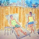 Vi and Karen on the Patio by RoyAllen Hunt