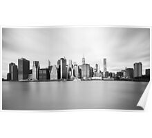 New York Landscape Black and White Poster