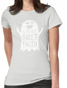 Lets Get Sheet Faced Ghost Funny Humor Halloween Costume Adult - Men's T-Shirt Womens Fitted T-Shirt