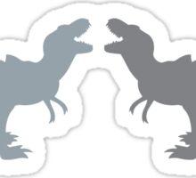 Two dinosaurs Tyrannosaurus roaring Sticker