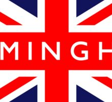 Birmingham UK British Union Jack Flag Sticker