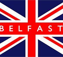 Belfast UK British Union Jack Flag by ukedward
