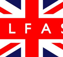 Belfast UK British Union Jack Flag Sticker