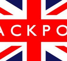 Blackpool UK British Union Jack Flag Sticker