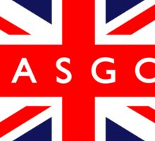 Glasgow UK British Union Jack Flag Sticker