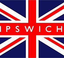 Ipswich UK British Union Jack Flag by ukedward