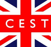 Leicester UK British Union Jack Flag Sticker