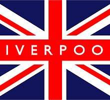 Liverpool UK British Union Jack Flag by ukedward