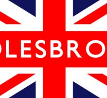 Middlesbrough UK British Union Jack Flag Sticker