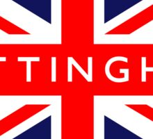 Nottingham UK British Union Jack Flag Sticker