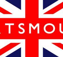 Portsmouth UK British Union Jack Flag Sticker