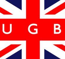 Rugby UK British Union Jack Flag Sticker