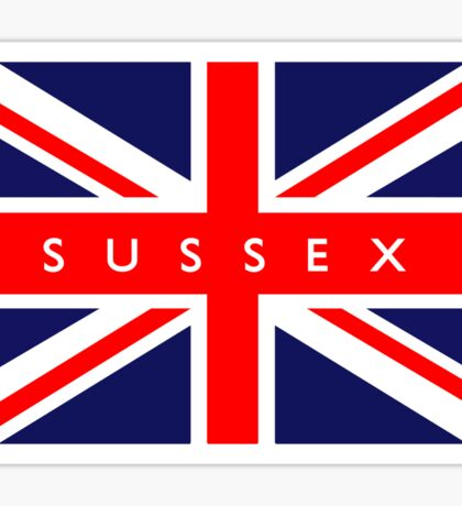 Sussex UK British Union Jack Flag Sticker