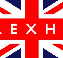 Wrexham UK British Union Jack Flag Sticker