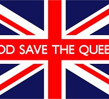 God Save The Queen UK British Union Jack Flag by ukedward