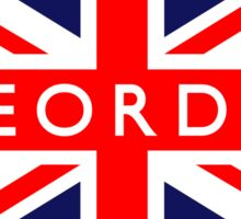 Geordie UK British Union Jack Flag Sticker