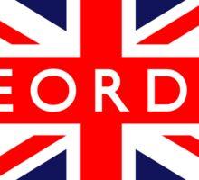 Geordie UK British Union Jack Flag Sticker