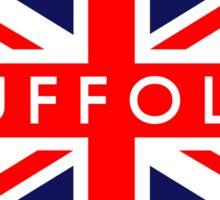 Suffolk UK British Union Jack Flag Sticker
