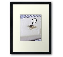 Prevent the Flu Fly Framed Print