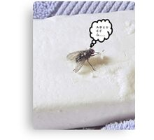 Prevent the Flu Fly Canvas Print
