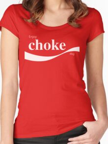 CHOKE Women's Fitted Scoop T-Shirt
