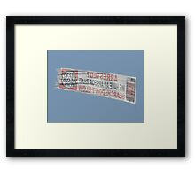 Can You Read Backwards? Framed Print
