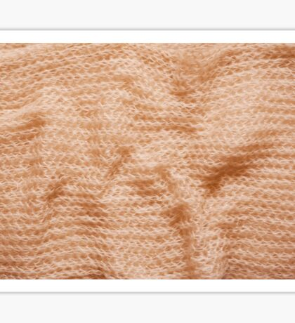 Beige fluffy knitted fabric texture  Sticker