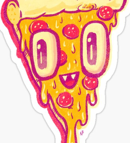 Pizza Face Buddy Sticker