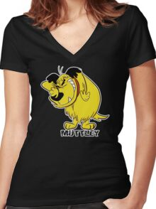 MUTTLEY FUNNY T SHIRTS T-SHIRTS WACKY RACES CARTOON ANT HILL MOB Hanna Barbera Women's Fitted V-Neck T-Shirt