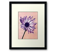 Sue's White and Purple Flower Framed Print