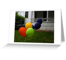 """Escape from the Balloonatic Asylum"" Greeting Card"