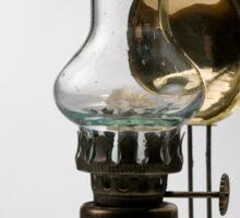 retro style glass decorative oil lamp Sticker