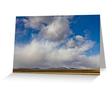 Storm Skies Over The Plains Greeting Card