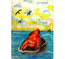 Where can a person sunbathe in privacy,,,watercolor Photographic Print