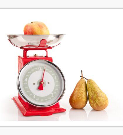 Kitchen red weight scale utensil Sticker