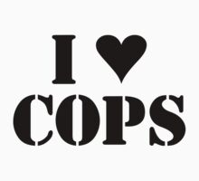I LOVE COPS Kids Clothes