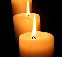 3 Candles by Jonelle Davila