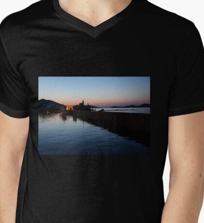 Sunset at Paros, Greek Islands Mens V-Neck T-Shirt