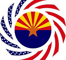 Arizonan Murican Patriot Flag Series by Carbon-Fibre Media