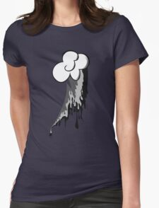 Monochrome Dash Womens Fitted T-Shirt