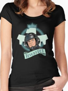 Aye Que JOHNNY RICO! Women's Fitted Scoop T-Shirt