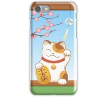 Japanese Lucky Cat, Calico Maneki Neko iPhone Case/Skin
